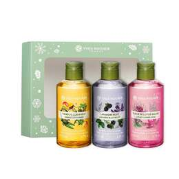 Bath and Shower Gel 200 ml Trio Box Set - Mango, Lavandin and Lotus, Les Plaisirs Nature, Gift ideas