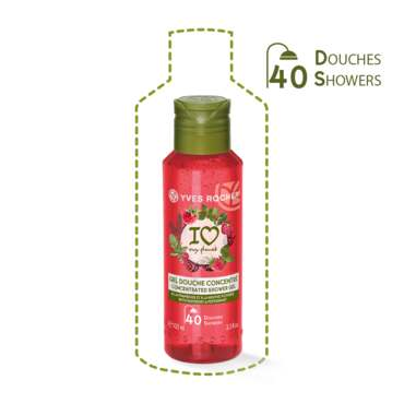 Concentrated Shower Gel Raspberry & Peppermint, For the Shower - Fruity Notes