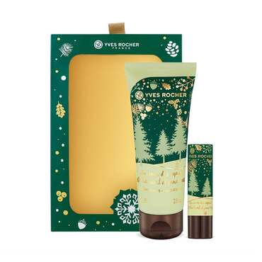 Hand Cream and Lip Balm Duo Box Set - At the Heart of Pine Trees, Holiday Collection, Gift ideas