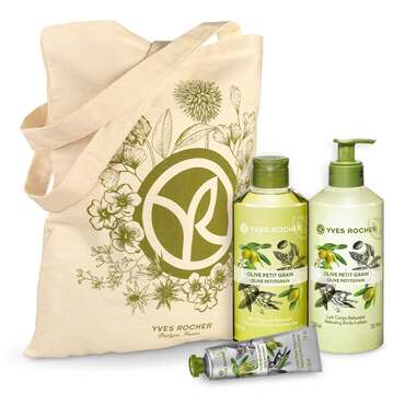 Relaxing Olive Petitgrain Body and Shower Set - 3 - Gift ideas