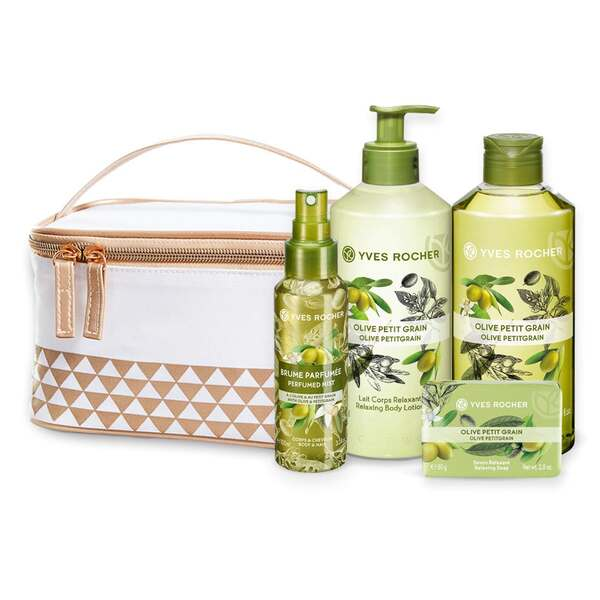 Relaxing Olive Petitgrain Body and Shower Set - 4 - Gift ideas