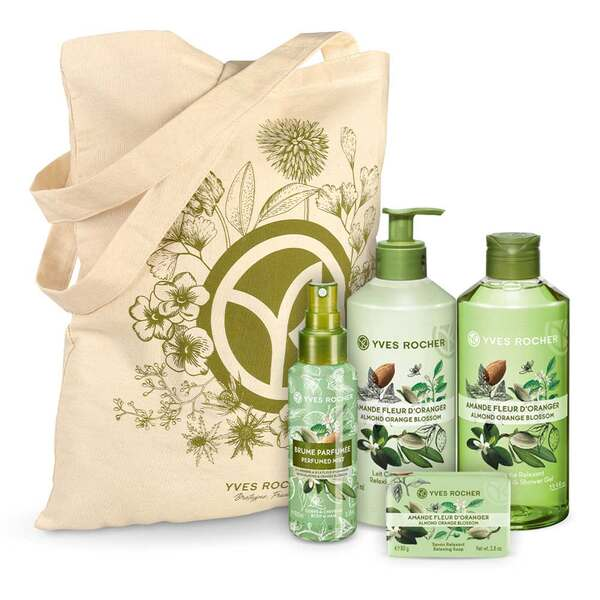 Relaxing Almond Orange Blossom Body and Shower Set - 4 - Gift ideas