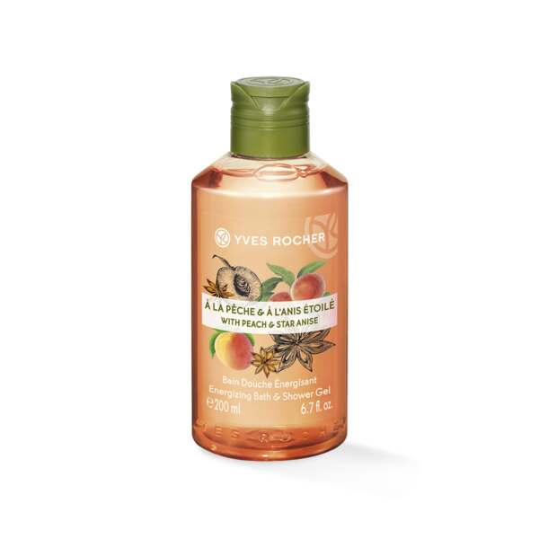 Energizing Bath and Shower Gel with Peach and Star Anis - 200ml