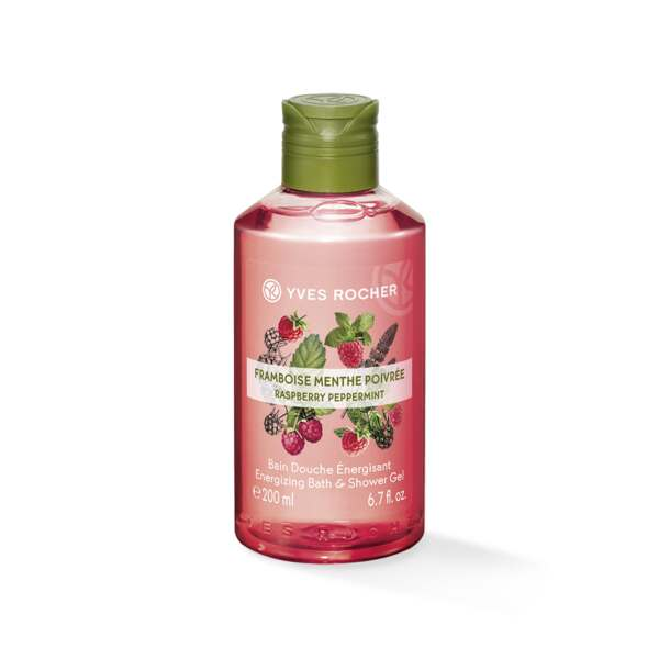 Energizing Bath and Shower Gel - Raspberry Peppermint 200 ml