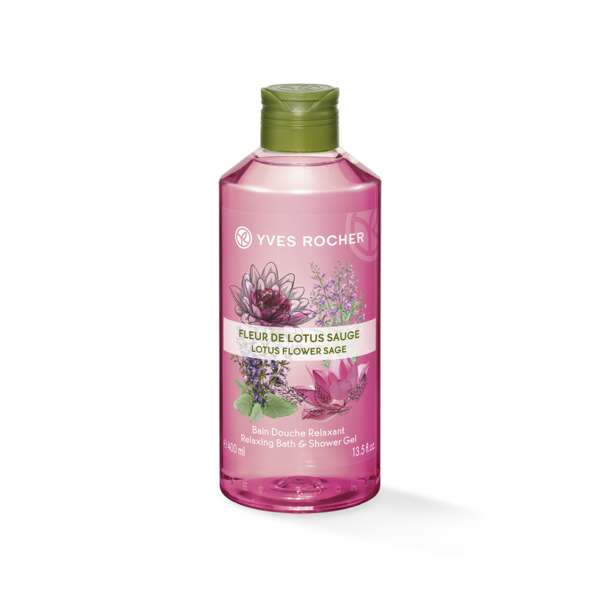 Relaxing Bath and Shower Gel - Lotus Flower Sage