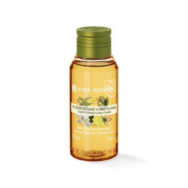 Sensual Bath & Shower Gel - Tiare Flower Ylang-Ylang - Travel Size