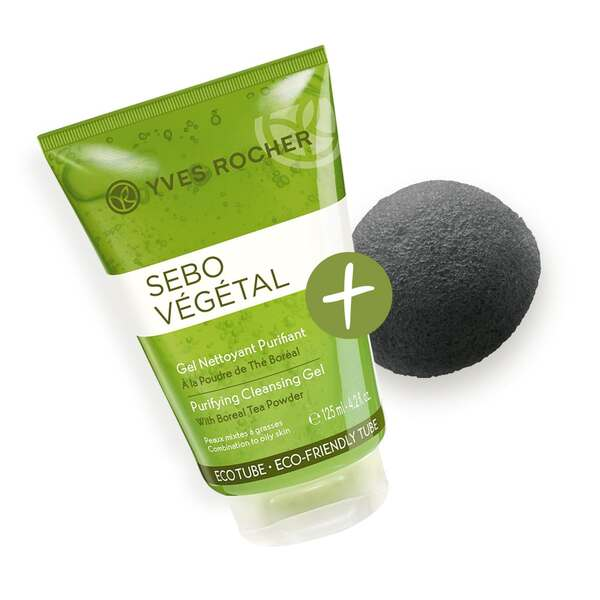 Konjac sponges duo combination to oily skin - skincare accessories
