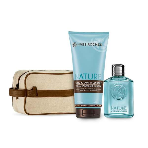 Mens Eau de Toilette and Shower Gel Set - Guaiac Wood and Juniper,Men Fragrance,Gift ideas