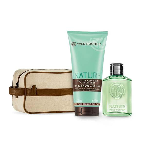 Mens Eau de Toilette and Shower Gel Set - Cedar Wood and Lime,Men Fragrance,Gift ideas
