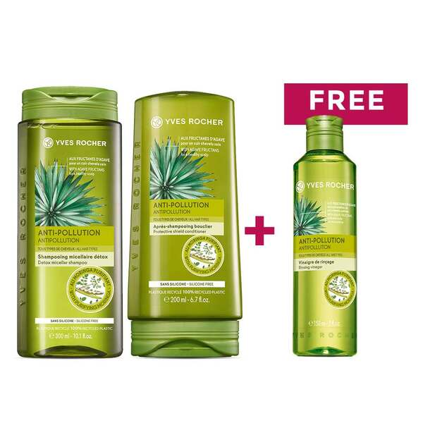 Anti pollution hair care routine - Yves Rocher