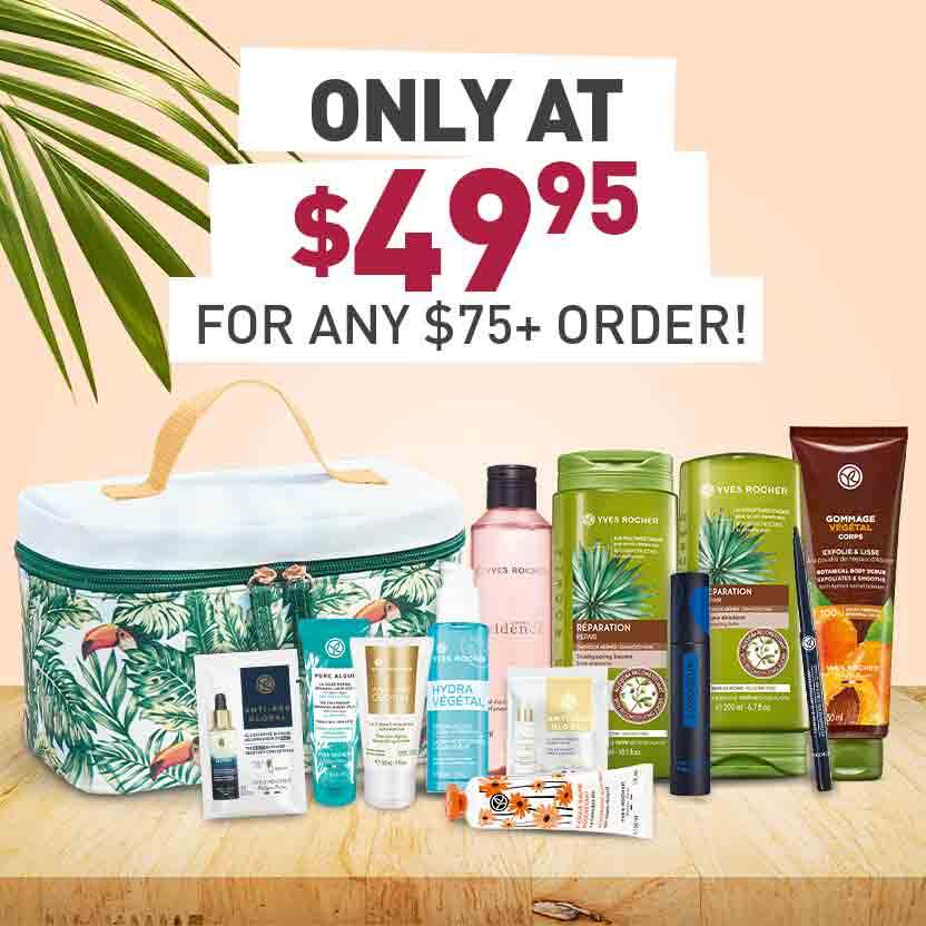 Get your bestsellers kit for only $49.95 with any $75+ purchase! Hurry, quantities are limited!