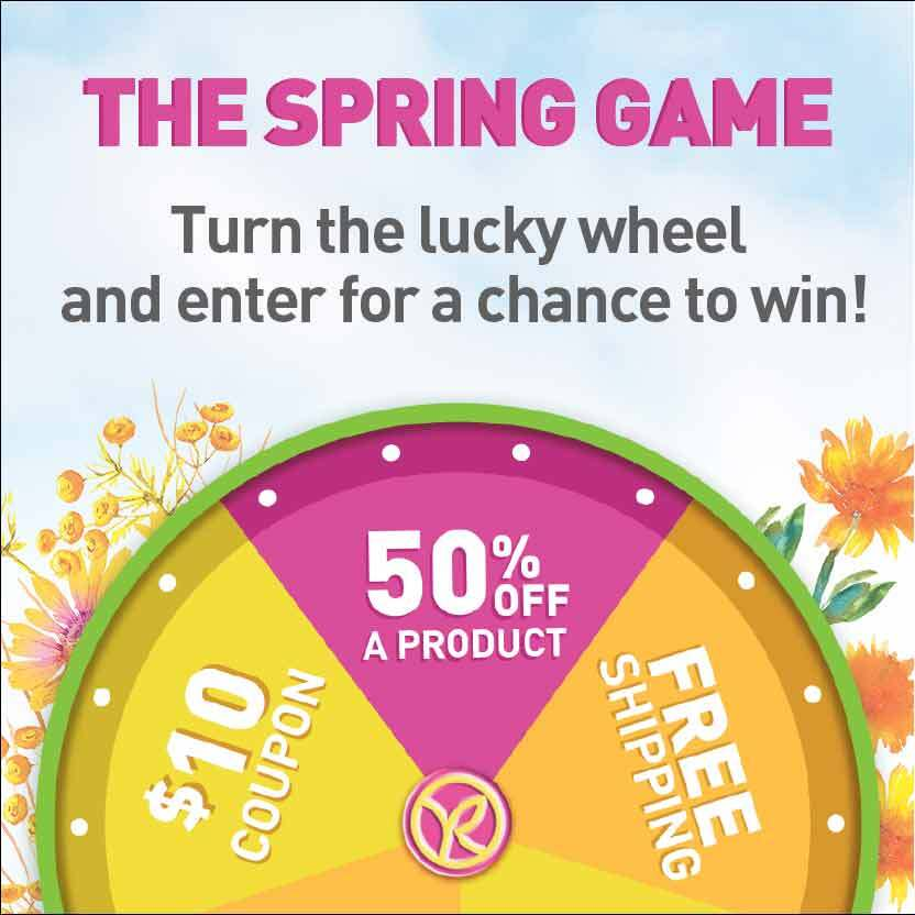 The Spring Game: turn the lucky wheel and enter for a chance to win!