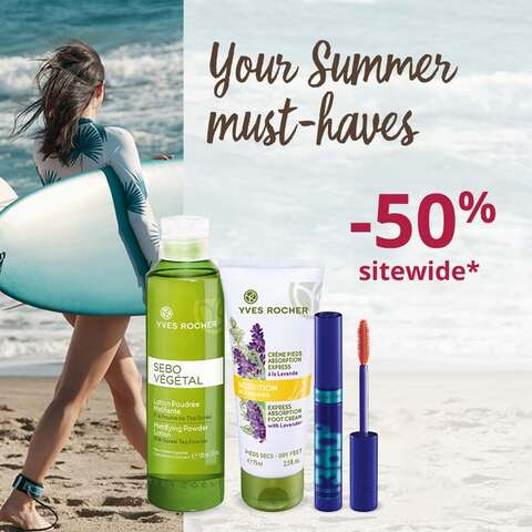 50% off* your Summer selection